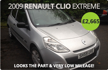 2009 Renault Clio Extreme for Sale at £2665