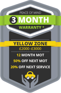 3 Month Warranty - Yellow Zone