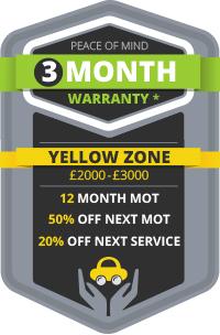 3 Month Warranty - Yellow Zone
